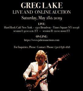 Greg Lake Auction Details